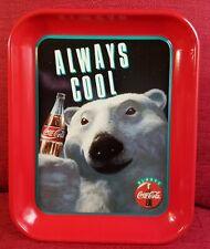 """Replica C8520 New Coca Cola Rectangle Metal Tray Polar Bear /""""Let/'s Play/"""""""