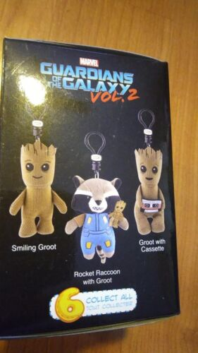 Guardians Of The Galaxy Vol 2 Plush Clip-Ons Set Of 4 Blind Boxes Marvel New