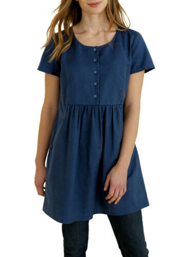 Deep Sz Dress Cotton Blue Rrp Tunic New Linen 16 Seasalt Moresk £69 Pockets zfq0xSwHOn