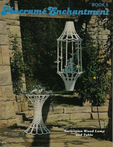 #SP5 Macrame Enchantment Book 5 Patterns Lamps, Tables, Planters Instructions