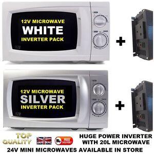 Microwave-12v-12-Volt-1500w-Smart-inverter-Campervan-Motorhome-SELF-BUILD-CAMPER