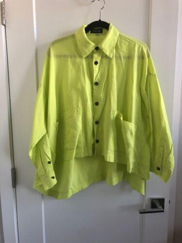 Beautiful Chartreuse Eskandar Linen Top Size 0