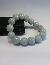 Natural Grade A  jade 10 mm beaded stretchy bracele(15 beads)