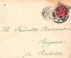 MS2616* 1891 DENMARK Copenhagen Cover VILLAGE POSTMARK *Ryegaard* by Roskilde