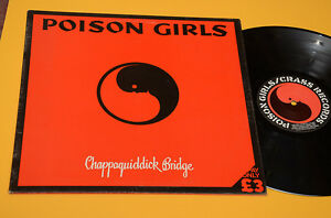 POISON-GIRLS-LP-CHAPPAQUIDDICK-1-ST-ORIG-UK-1980-NM-TOP-AUDIOFILI-GATEFOLD