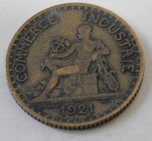 Piece-Monnaie-BON-pour-1-FRANC-COMMERCE-INDUSTRIE-1921