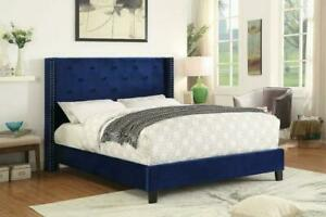 Summer Sale!! Contemporary, Rich Velvet Upholstered Beds With Button Tufted on Clearance Edmonton Area Preview