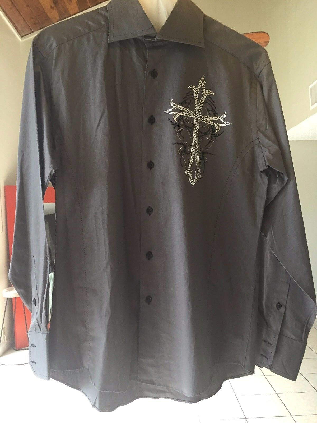 Raw 7 Rawyalty Edition Men's Long Sleeve Button Front Shirt size M