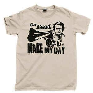 aaa02bb5e2628 Details about MAKE MY DAY T Shirt Dirty Harry Clint Eastwood Movie Tee DVD  Blu Ray Collection