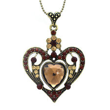Heart Flower Necklace Valentine's Day Gift For Mom Girl Friend Wife Fianncee