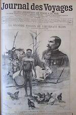 JOURNAL DES VOYAGES N° 872 de 1894 AFRIQUE LA  MISSION MIZON  /  LES CLOCHES