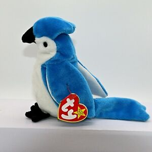 41d8f4f95a0 TY BEANIE BABY ROCKET (The Blue Jay) Retired   Rare - Tag Errors ...
