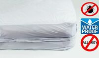 Deluxe™ Vinyl Zippered Mattress Cover 100% Waterproof & Bed-bug Proof By Rl Inc®