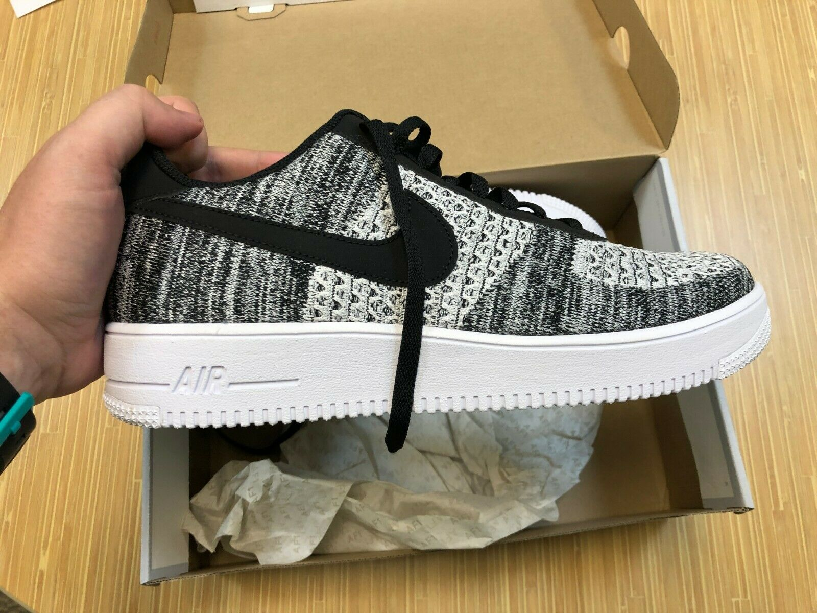 Nike Air Force 1 Ultra Flyknit Mid Black Mens Size 14 817420 004 FREE PRIORITY