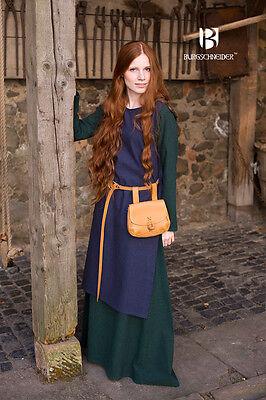 sottoveste in stile medievale in cotone verde Freya
