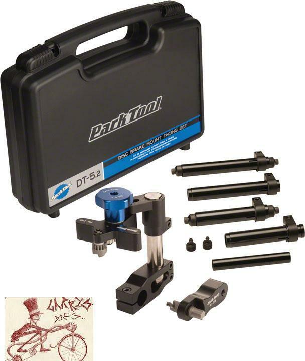 PARK TOOLS DT-5.2 DISC DISC DT-5.2 BRAKE MOUNTING FACING SET BICYCLE TOOL W/ CASE 719d75