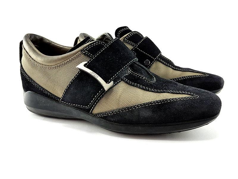 Tod 's negro mess   suede moda zapatillas mujer' s deportes talla US (6,5)   EU 36.5