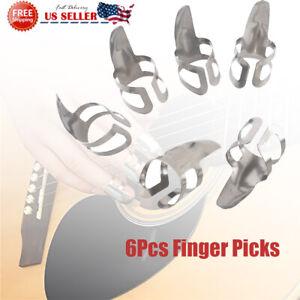 6Pcs-Finger-Picks-Stainless-Steel-Banjo-Ukulele-Guitar-Picks-Plectrums-From-USA