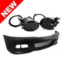 Bmw E46 3-series M3 Style Front Bumper W/ Smoke Fog Lights on sale