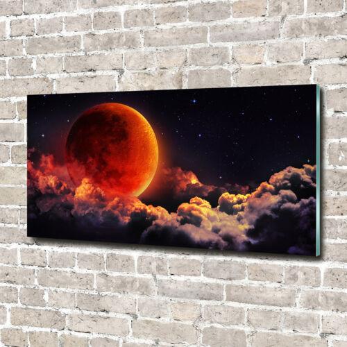 Glas-Bild Wandbilder Glas-Druck 140x70 Weltall /& Science-Fiction Mondfinsternis
