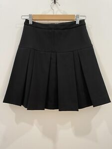 Cue Black Pleated Skirt Size 6 EUC Corporate Workwear