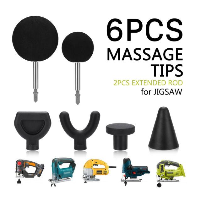 6Pcs Percussion Massage Tip Bit For Jigsaw Massager Adapter Attachment Worx AUS
