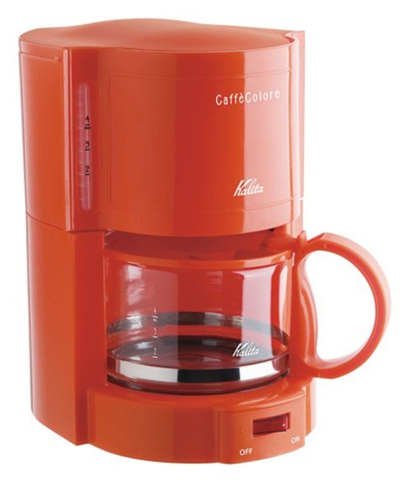 Kalita Cafetière Café Couleure V-102 Orange 4 tasses 100 V 50 60Hz F S AVEC No DE SUIVI
