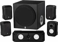 Yamaha Ns-sp1800bl 5.1-channel Home Theater Speaker System With Advanced Yst