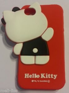 Hello-Kitty-Soft-Rubber-3D-Red-Cover-Case-Silicone-Skin-for-iPhone-4-4S