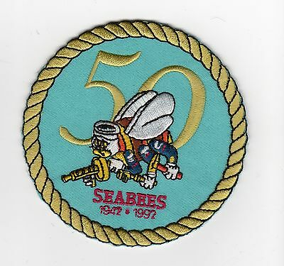Seabees 50 Years BC Patch Cat No M5829