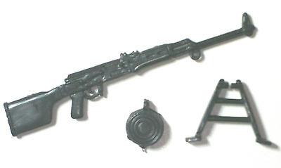 "RPK PKM Machine Gun w/ Ammo Drum (1)-1:18 Scale Weapon for 3-3/4"" Action Figures"