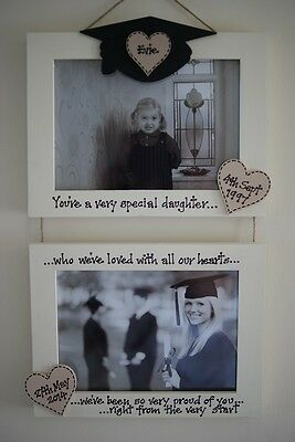 Graduation Gift Personalised Photo Frame by Filly Folly 2 frames!