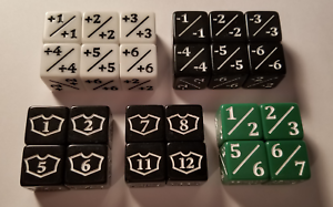 24x Counter, Negative, Goyf & Loyalty Dice for Magic  The Gathering & CCG   MTG