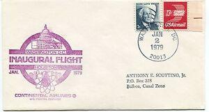 Humoristique Ffc 1979 First Flight Continental Airlines Washington D.c. Houston Us Postal