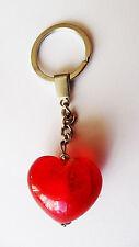 exklusiver Schlüsselanhänger Glas Herz / Unikat / Geschenkset / Rot