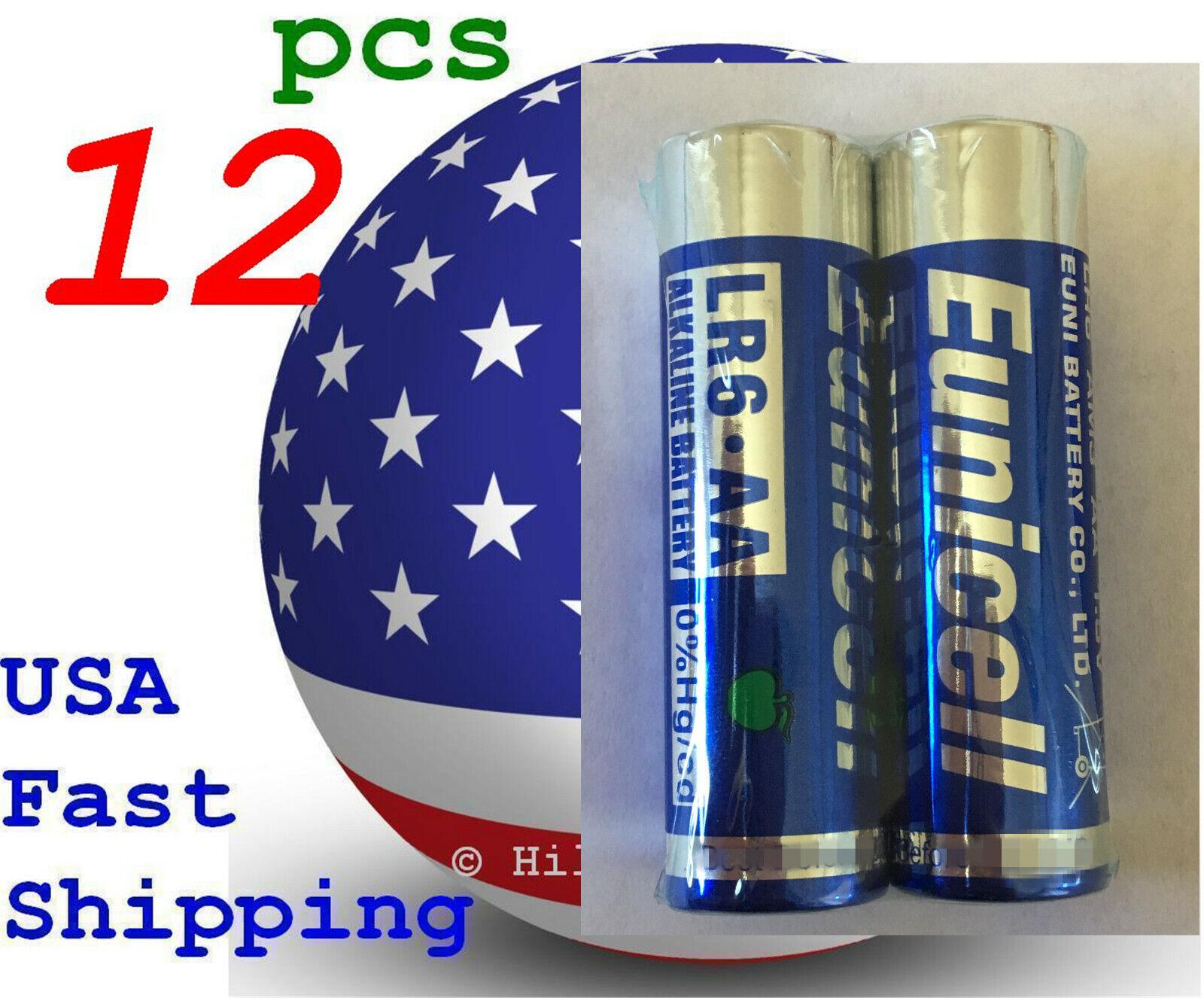 12 pcs Size AA LR6 AM-3 0% Hg Heavy Duty Bulk 1.5V Alkaline Battery