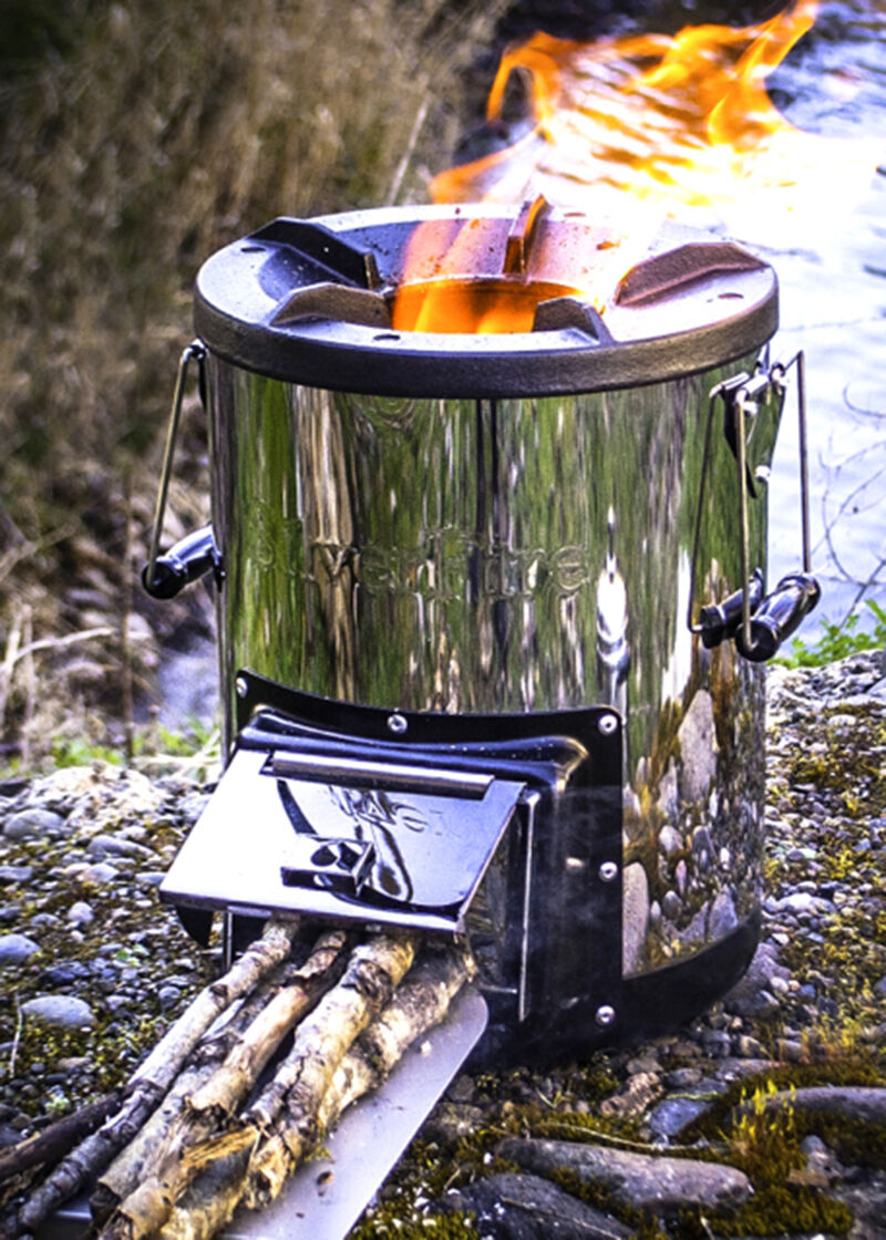 Estufa cohete Platafire sobreviviente leña biomasa What Gasificador Camping Nuevo