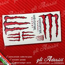 7 Adesivi Drink Energy Red Rosso Sticker vari formati