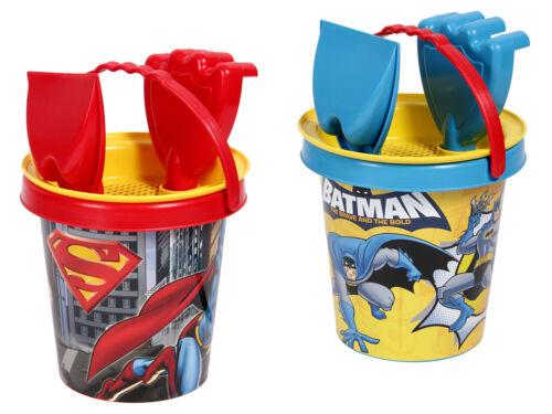 4-teilig Strand Sand-Spielzeug Superhelden Kinder Eimer Schaufel Set Sandkasten