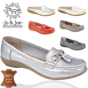 JO-amp-JOE-LADIES-GENUINE-LEATHER-WOMENS-LOAFERS-SLIP-ON-OFFICE-WORK-CASUAL-SHOES-UK