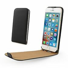 Real Genuine Leather Flip Slim Case Cover for New Apple iPhone 7 Plus