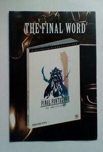 * Rare * Pièce De Collection Final Fantasy Encart Publicitaire Ps2 Pstwo Playstation 2-afficher Le Titre D'origine RafraîChissement