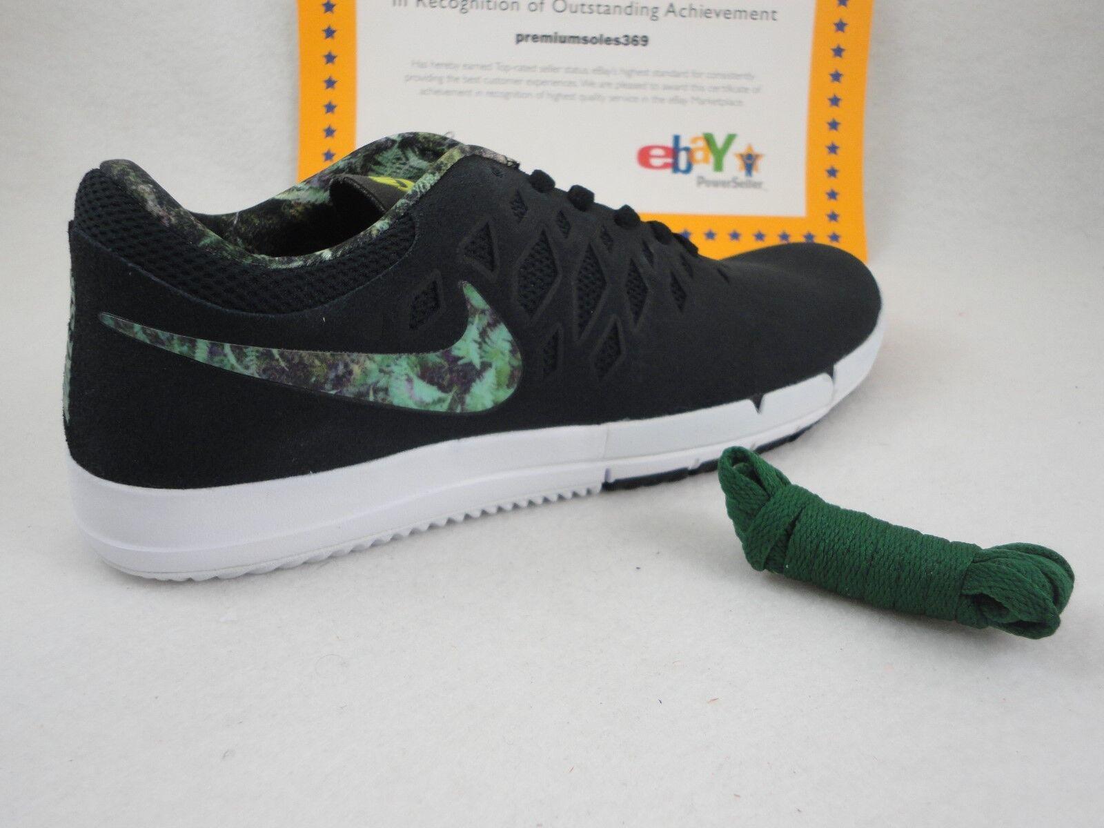 Nike free sb, schwarz / schlucht grün / weiß, größe 8