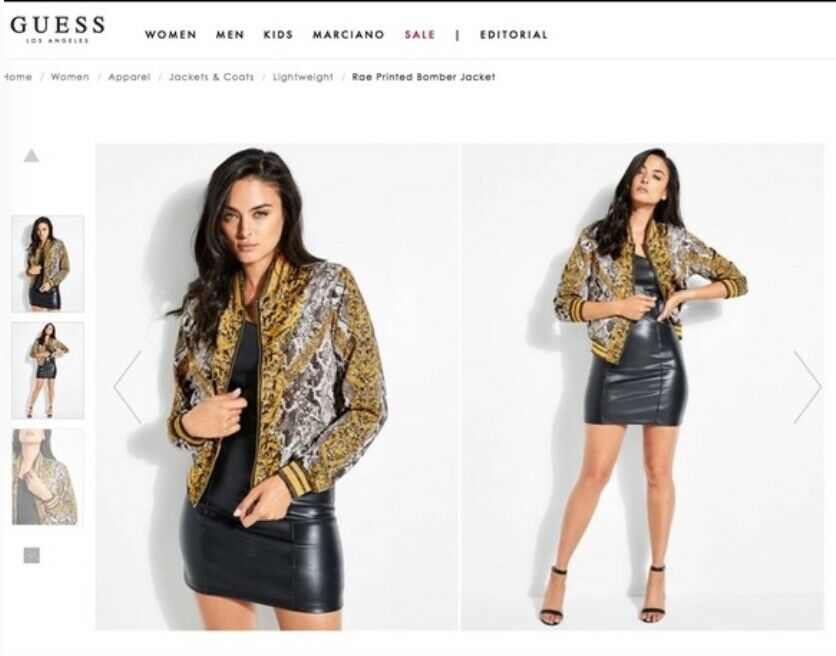 GUESS baroque Rae bomber jacket, women's size Sma… - image 1