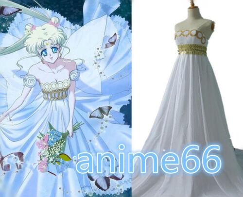 Sailor Moon Princess Serenity Tsukino Usagi Anime Cosplay Costume Party Dress FF