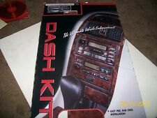 Dash Kit, Crystalux peel and stick gloss wood dash design, 2 different vehicles