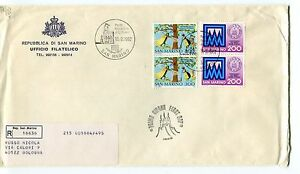 Brillant 1982 Fdc San Marino 100°cassa Di Risparmio Int Post Raccomandata First Day Cover