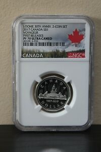 2017-Canada-Voyageur-1st-Releases-Loonie-30th-Anniv-S-1-NGC-PF70