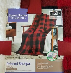 87e1c2923d Sherpa Throw Blanket Better Homes Gardens Velvet Plush Buffalo Check ...