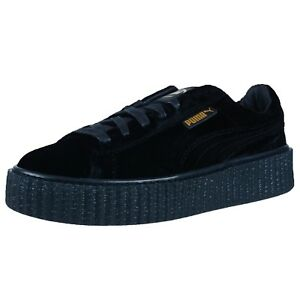 80bc228137d50c Image is loading PUMA-BY-RIHANNA-WOMENS-CREEPER-VELVET-FASHION-SNEAKERS-